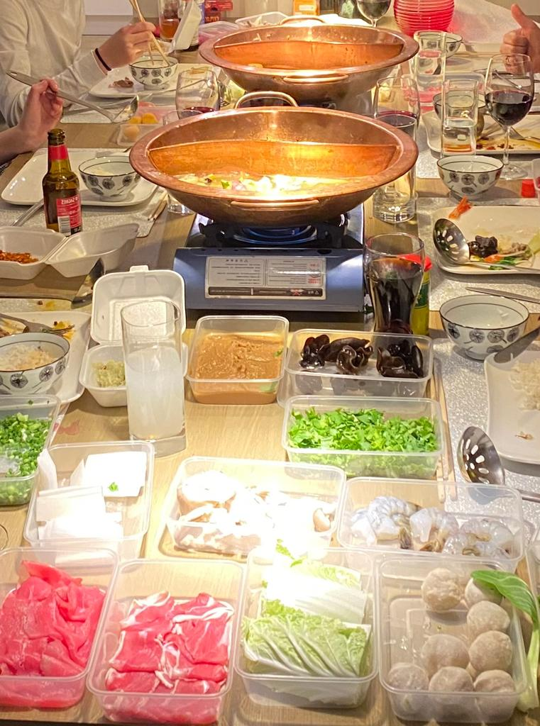 Chinese hot pot delivery!